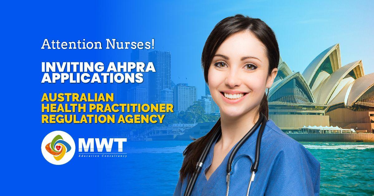 Application invited for ahpra nursing programs nursing