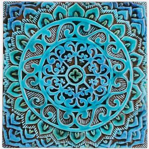 Decorative Tile Wall Art Mandala Wall Hanging Made From Ceramic Exterior Wall Art Mandala