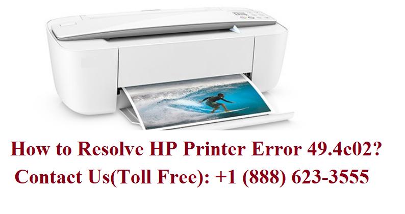 How to resolve HP Printer Error 49.4c02? Hp printer