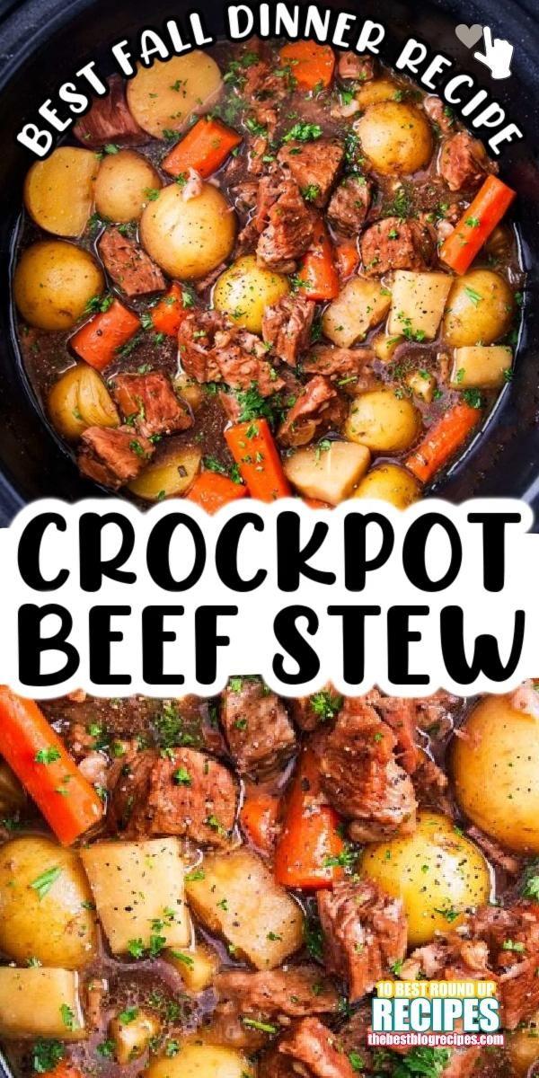 Easy Slow Cooker Beef Stew Dinner Recipe