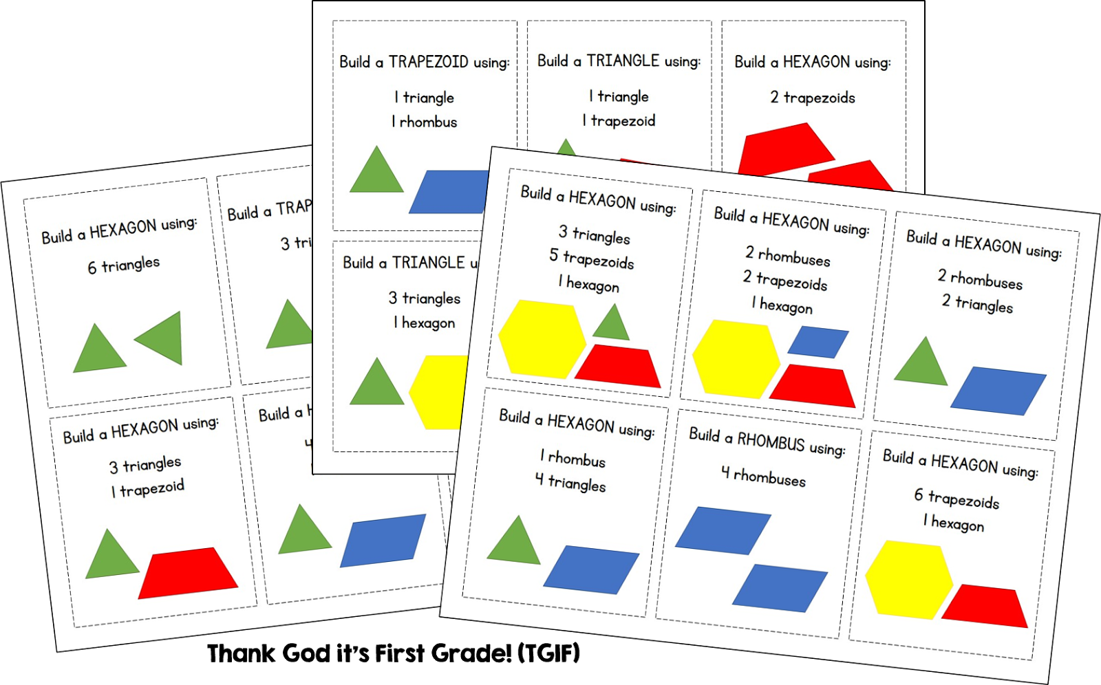 Composing 2d Shapes Free Center Cards Susan Jones