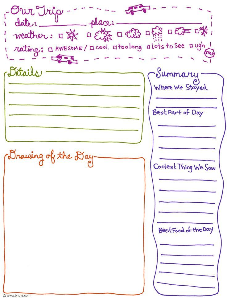 nature journal template