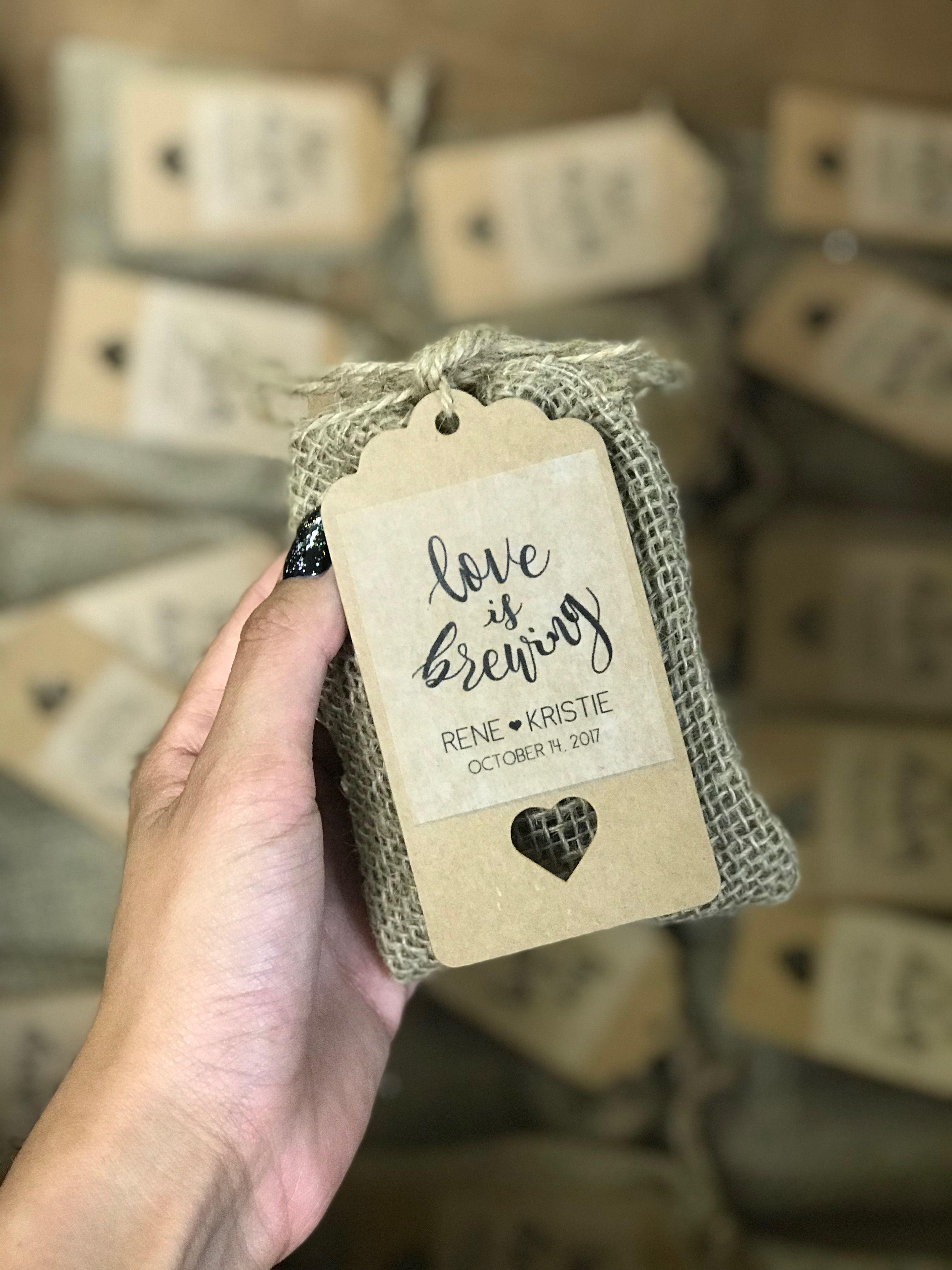 Chocolate covered espresso beans as a wedding favor!