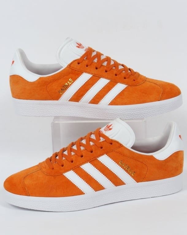 Adidas Gazelle Trainers Orange White 4c2397d95