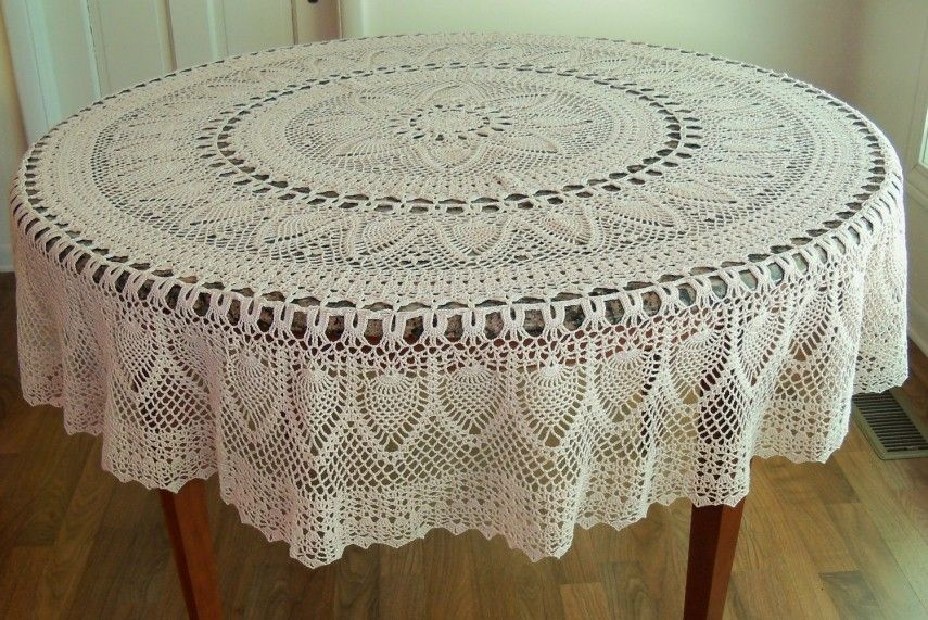 Charmant 90 Inch Round Lace Tablecloth | Lace Tablecloths | Peva Tablecloth