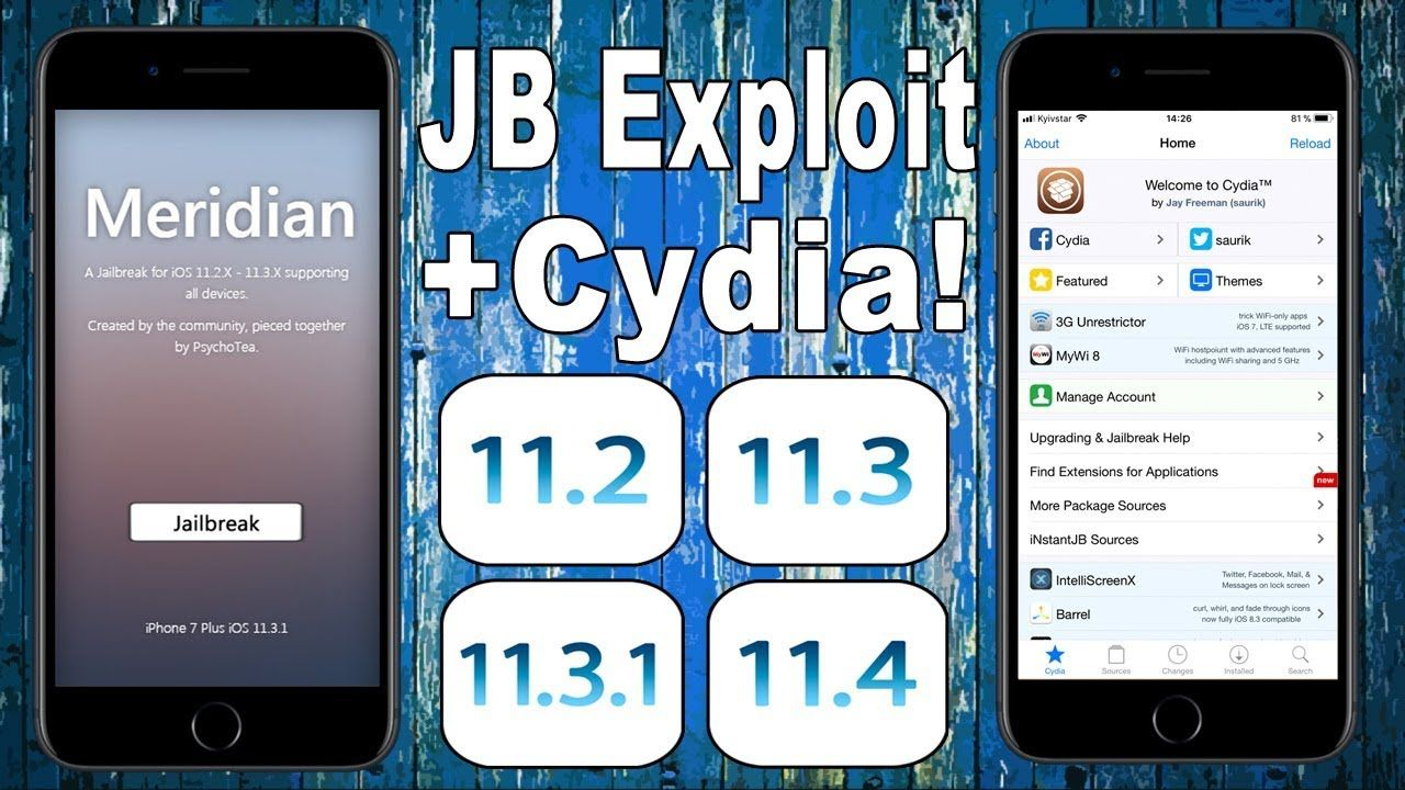 Meridian] JB Exploit + Cydia for iOS 11 2 - 11 2 6 & 11 3