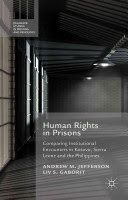 Like many prisons around the world, those in Sierra Leone, Kosovo and the Philippines are subject to the scrutiny and intervention of rights-based non-governmental organisations. This book compares encounters between prisons and NGOs drawing particular attention to the variation in styles of intervention. It ultimately shows how prisons act on NGOs as much as NGOs act on prisons. The authors call for a re-alignment of rights-based approaches to prison reform more finely and pragmaticall...
