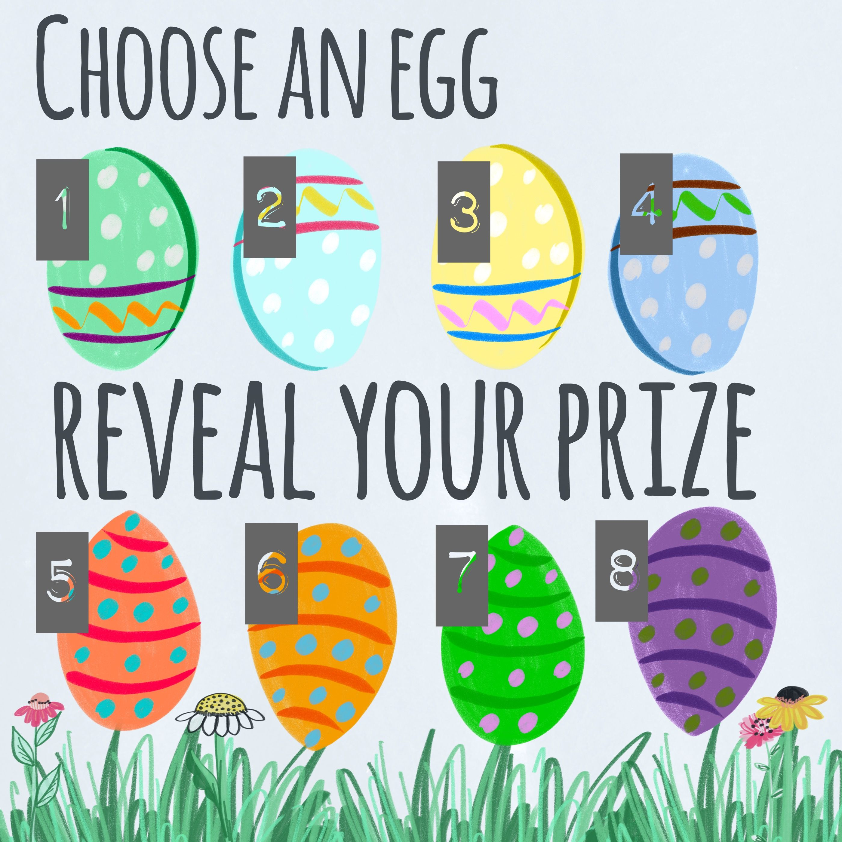 Choose an egg, reveal your prize. Facebook or VIP group