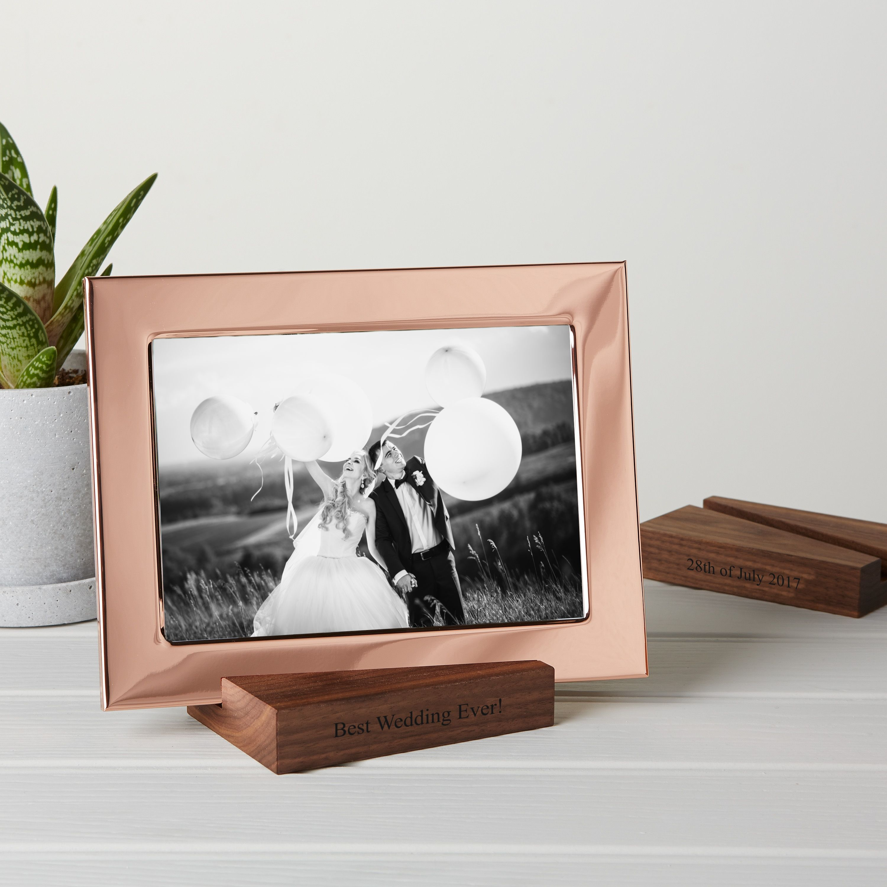Copper Photo Frame With Personalised Stand Best gift for