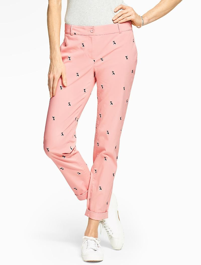 Boston Terrier Pants Check The Weekend Chino Boston Terrier Talbots Pants For Women Clothes Clothes For Women