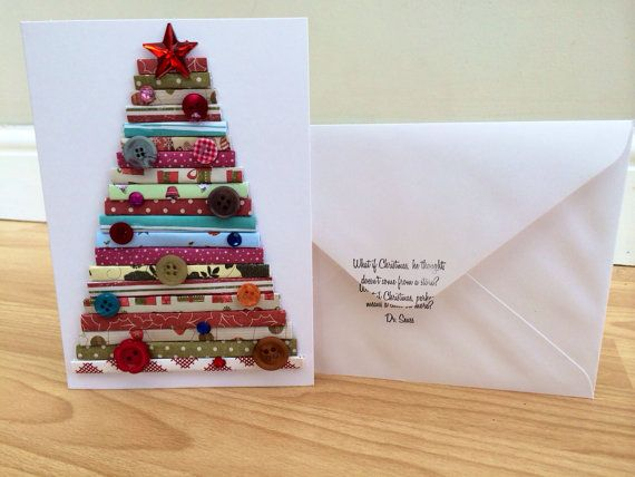 on sale christmas card handmade christmas tree card - Cheapest Christmas Cards