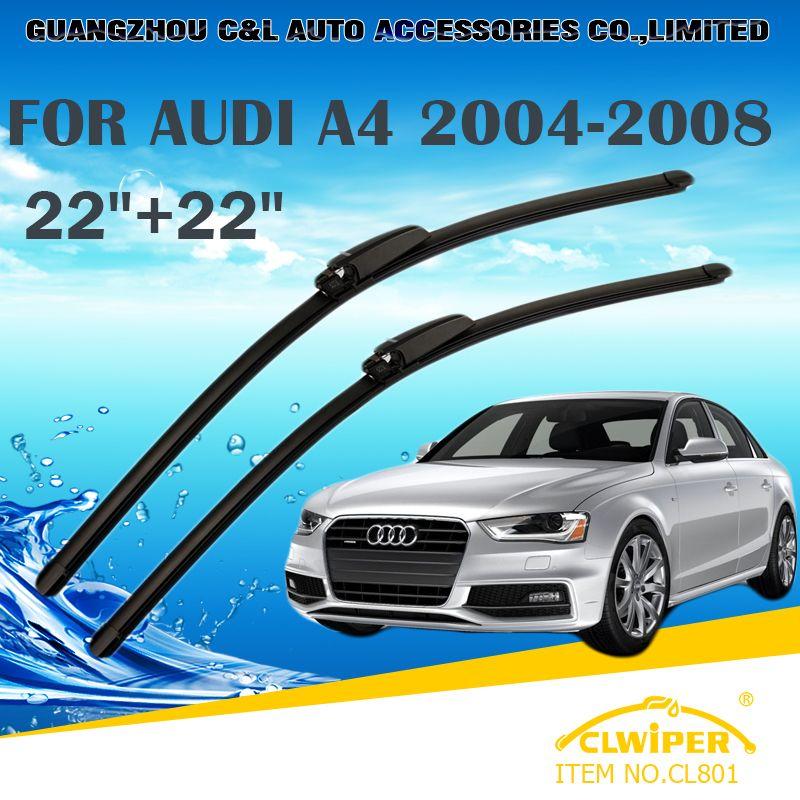 Wiper Blades For Audi A4 2003 2008 2004 2005 2006 2007 Car Windscreen Wiper Windshield Wiper Blade 22 22 Windscreen Wipers Car Accessories Windshield Wipers