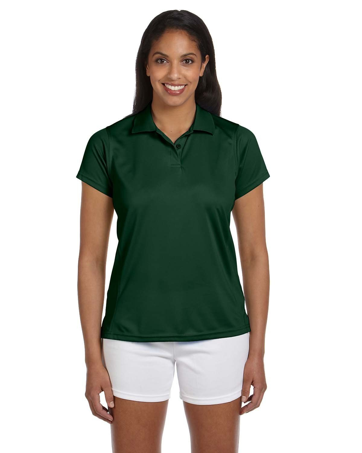Harriton Polytech Polo M315W Dark Green  21c00fd2fa