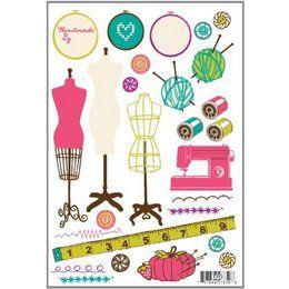 Sewing Room Scisor Thimble Wallpaper Border 10035601