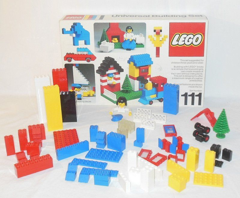 Lego Replacement Pieces Lot Originally From Set 111 Vintage With Box