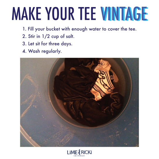 I made a tutorial on how to make your old tee shirts look vintage + made the graphics. full post here: http://blog.limericki.com/wednes-diy-make-your-new-tee-vintage/