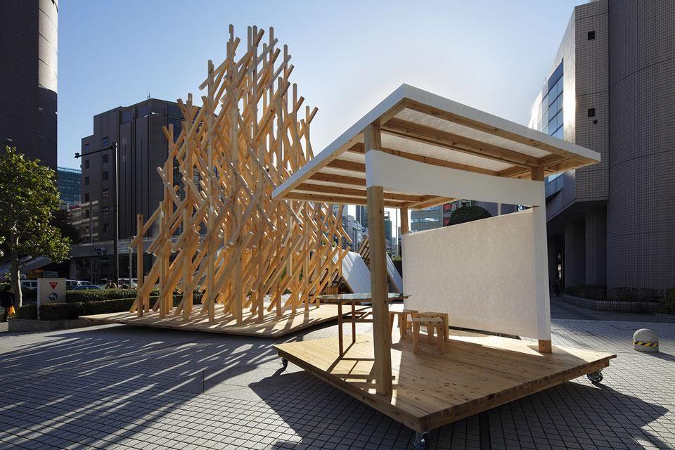 The Wisdom Tea House By Kengo Kuma Associates Tokyo Tea House House In The Woods Japanese Tea House