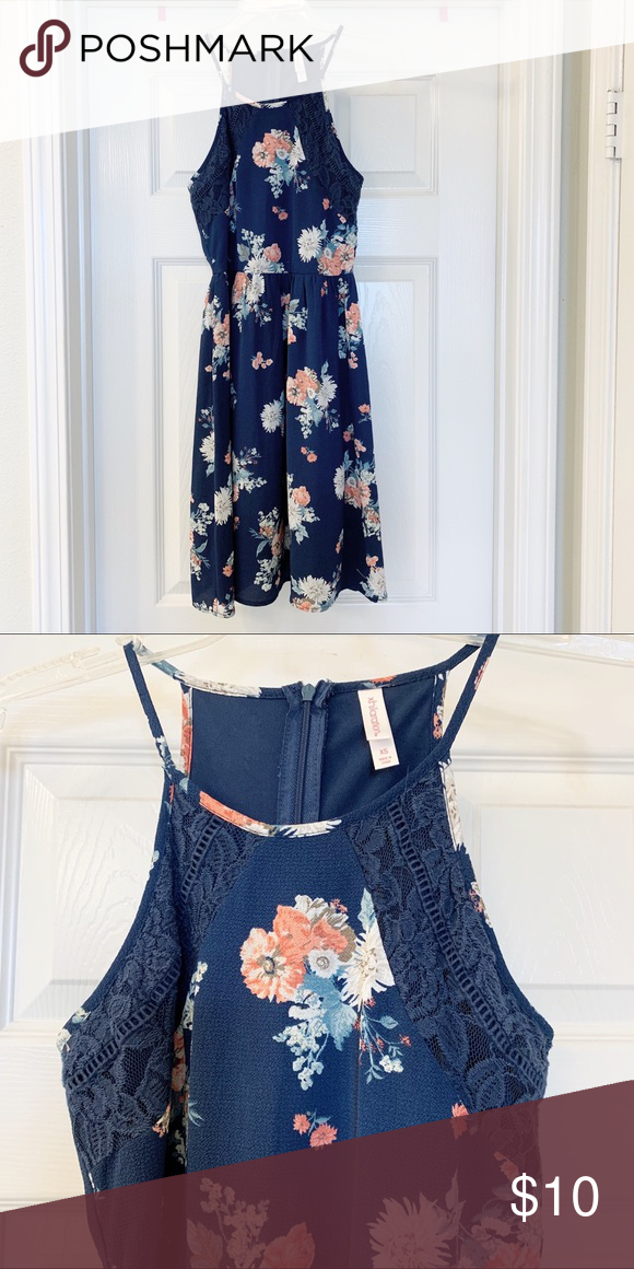 4ede12dc2d4 Navy floral dress Worn 2-3x. In great condition! Xhilaration Dresses ...