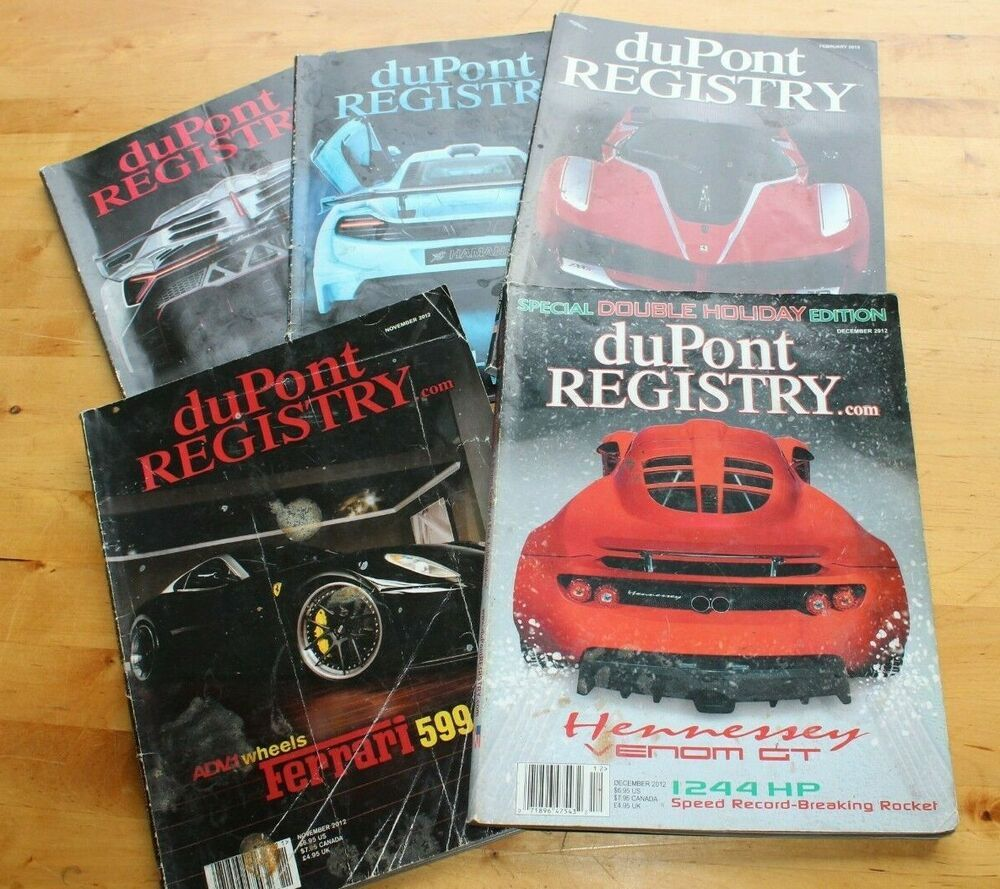 Dupont Registry 5 Magazine Back Issues Well Used In 2020 Dupont Registry Registry Dupont