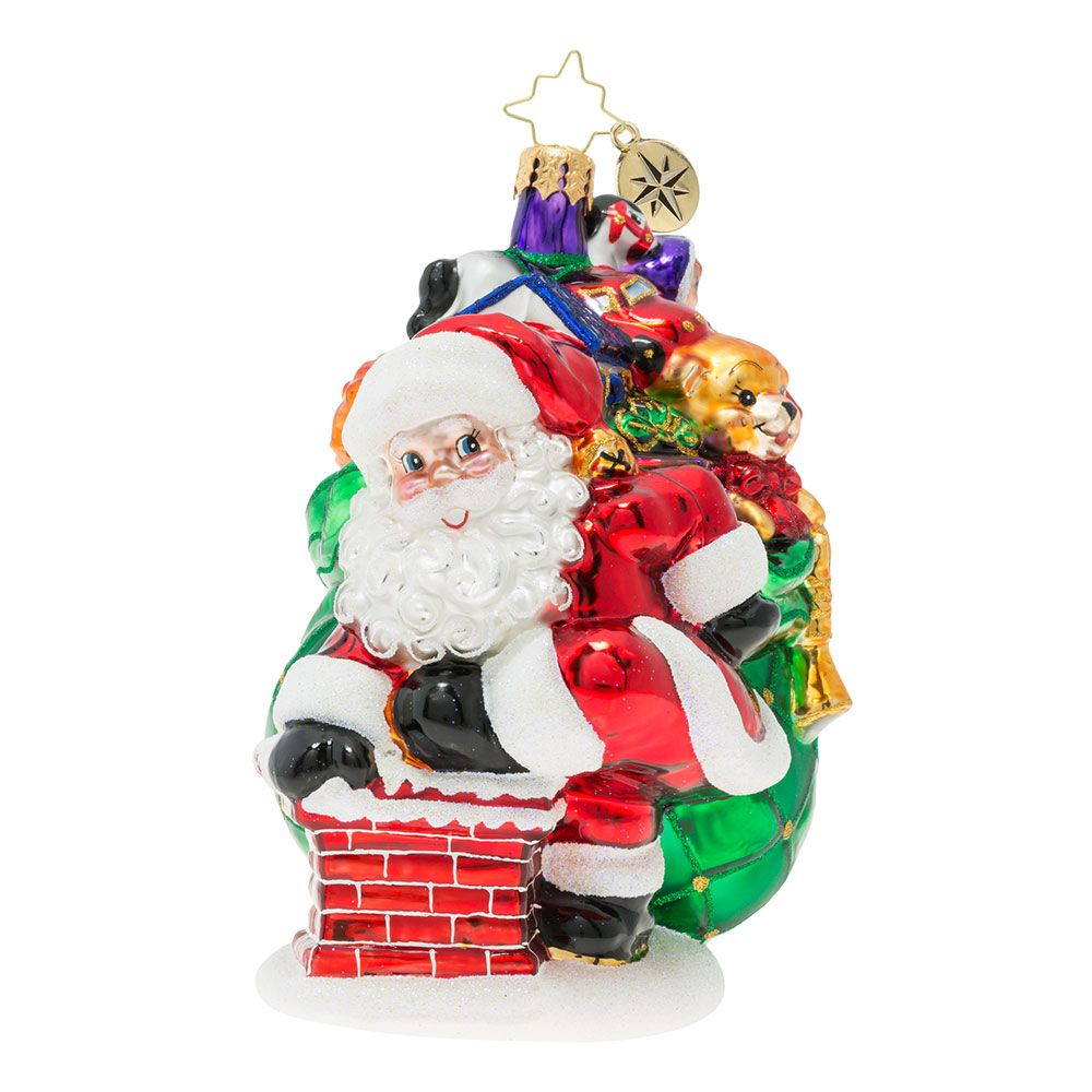 Christopher Radko Ornaments Sneaking Down The Chimney Ornament 1019868 Classic Christmas Decorations Christopher Radko Ornaments Christmas Ornaments