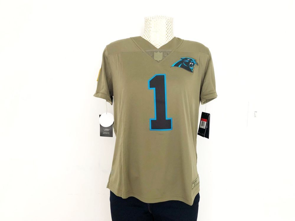 new product 68b30 b8b01 Nike Carolina Panthers Cam Newton Olive Salute to Service ...