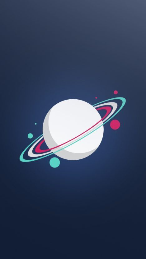 Saturn Planet Minimal Iphone Wallpaper In 2019 Iphone