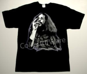 JETHRO TULL Ian Anderson drawing 5 CUSTOM ART UNIQUE T-SHIRT  Each T-shirt is individually hand-painted, a true and unique work of art indeed!  To order this, or design your own custom T-shirt, please contact us at info@collectorware.com, or visit  http://www.collectorware.com/tees-jethro_tull.htm
