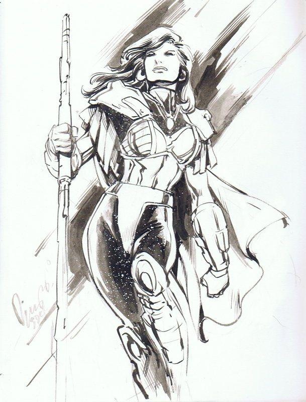 Donna Troy by Aldrin Buzz Aw Comic Art