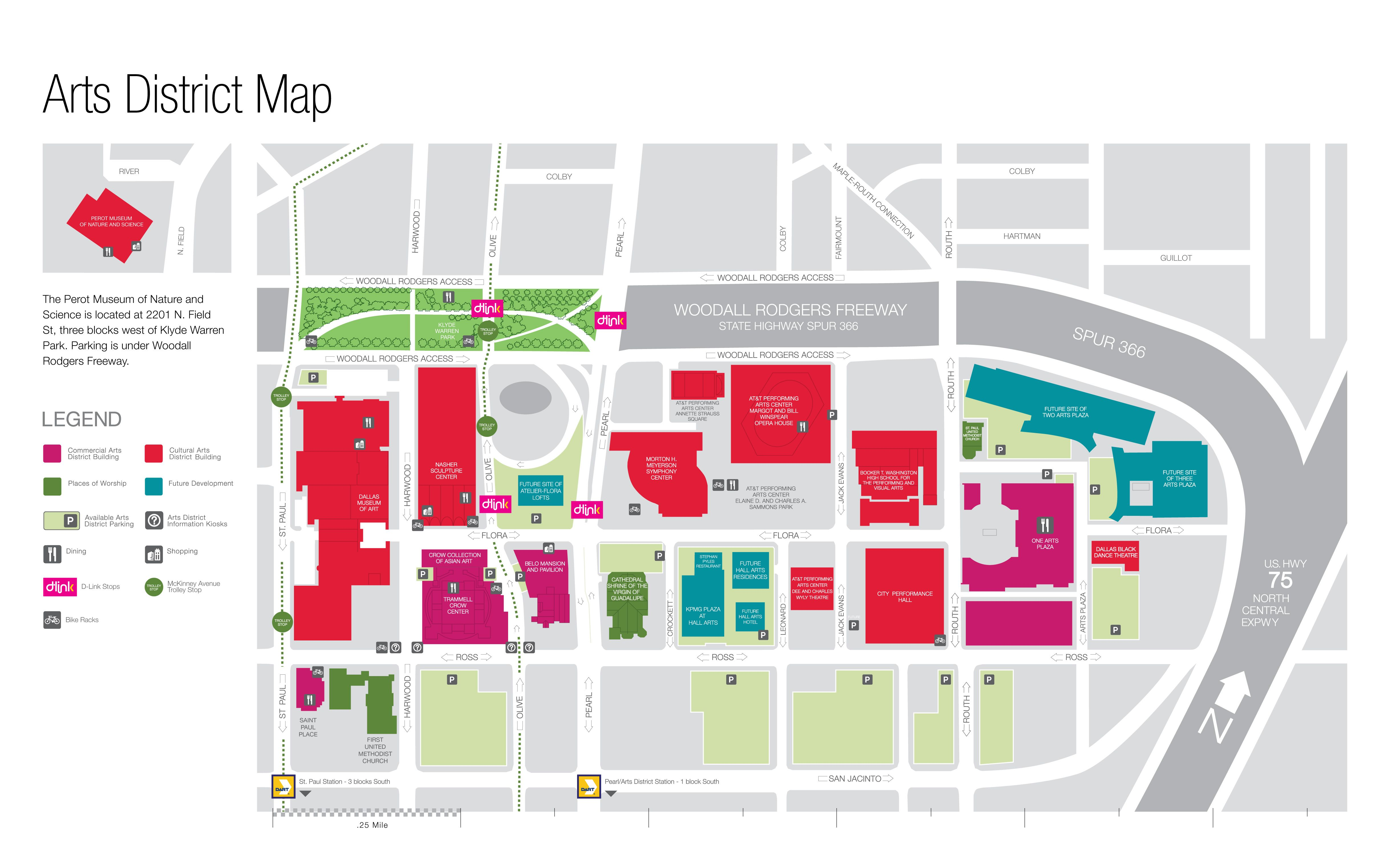 Dallas Arts District Map Travel Dallas Texas Pinterest