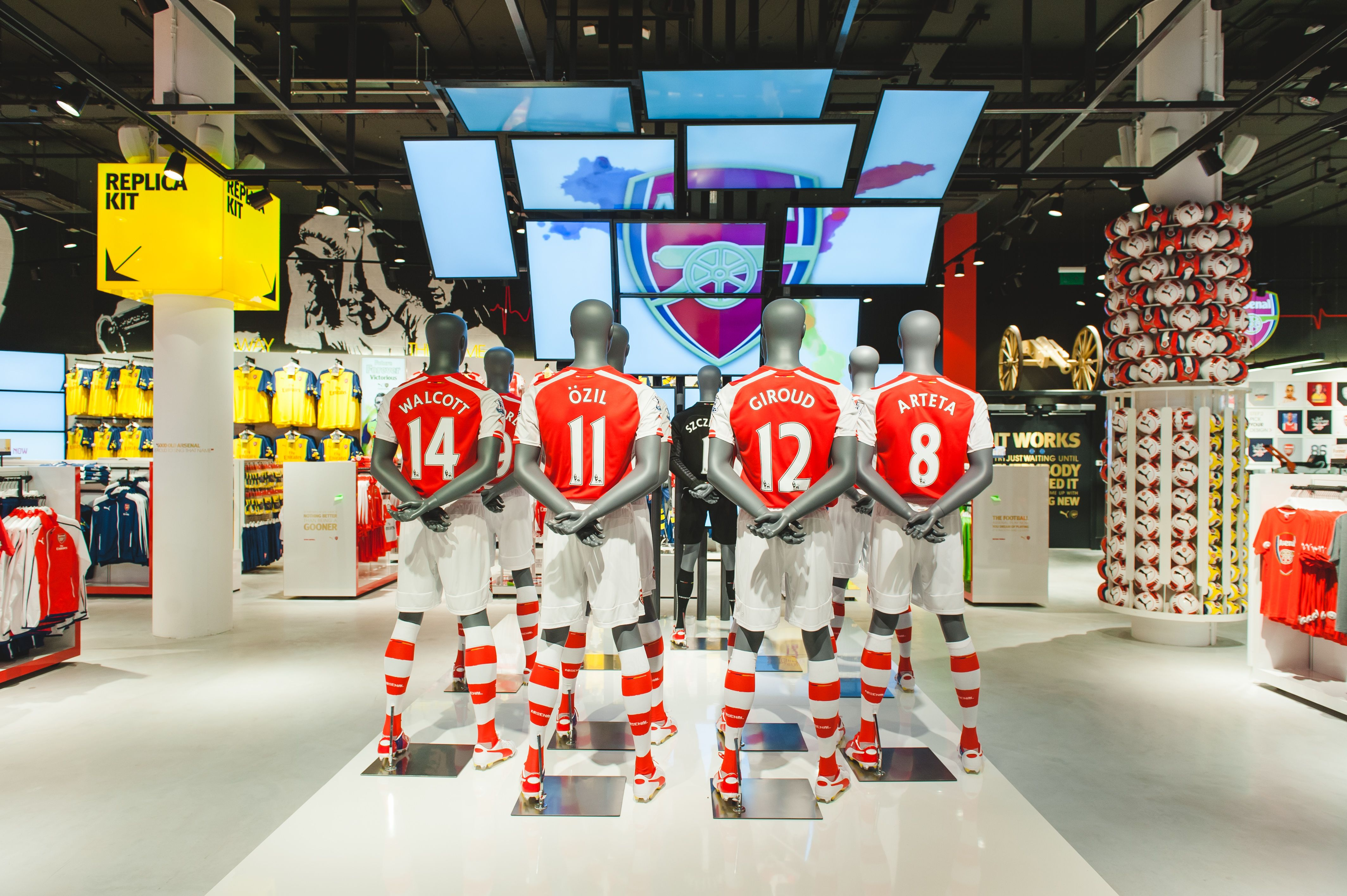 The flagship store of Arsenal London is located at the West ...
