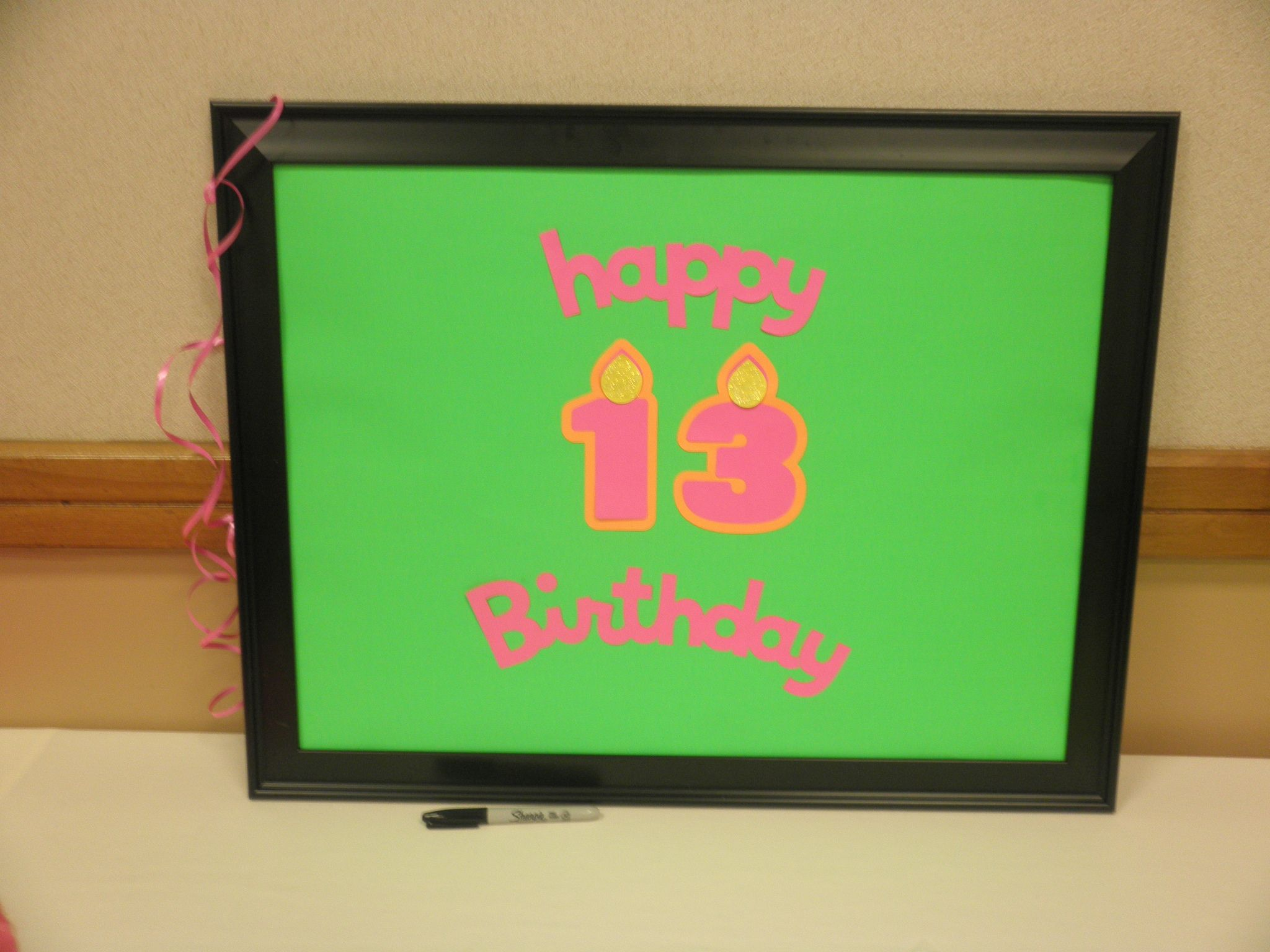 Make your own birthday autograph poster take the glass out of a make your own birthday autograph poster take the glass out of a picture frame i used 16x20 for this project replace with poster board jeuxipadfo Images