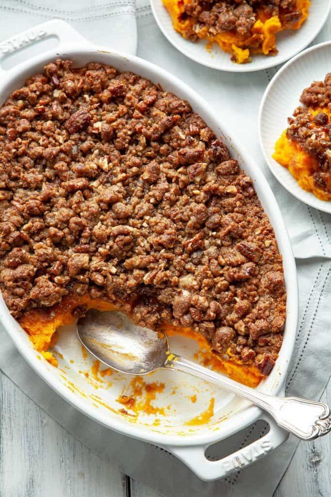 Best Ever Sweet Potato Casserole | Foodtasia