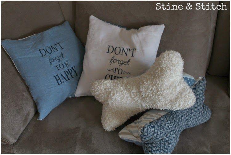 Stine & Stitch: Oktoberprojekt Stoffabbau Teil 1 : Kissen und Leseknochen