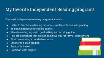 Common Core Aligned 6-10 Independent Reading... by Read it Write it Learn it | Teachers Pay Teachers