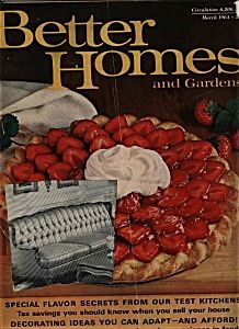 Better Homes and Gardens  Magazine- March 1964 (Image1)