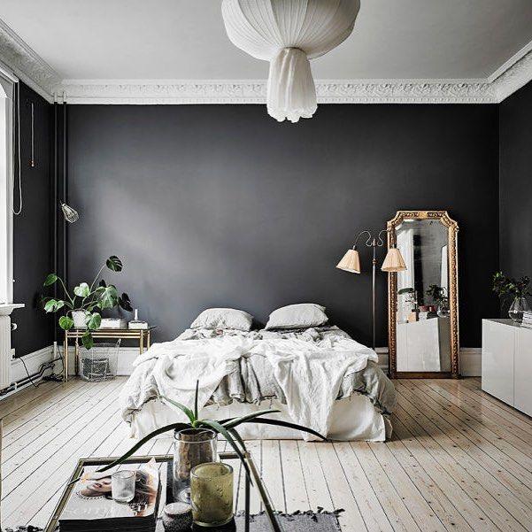 Black Bedroom #Regram Via @dailydreamdecor