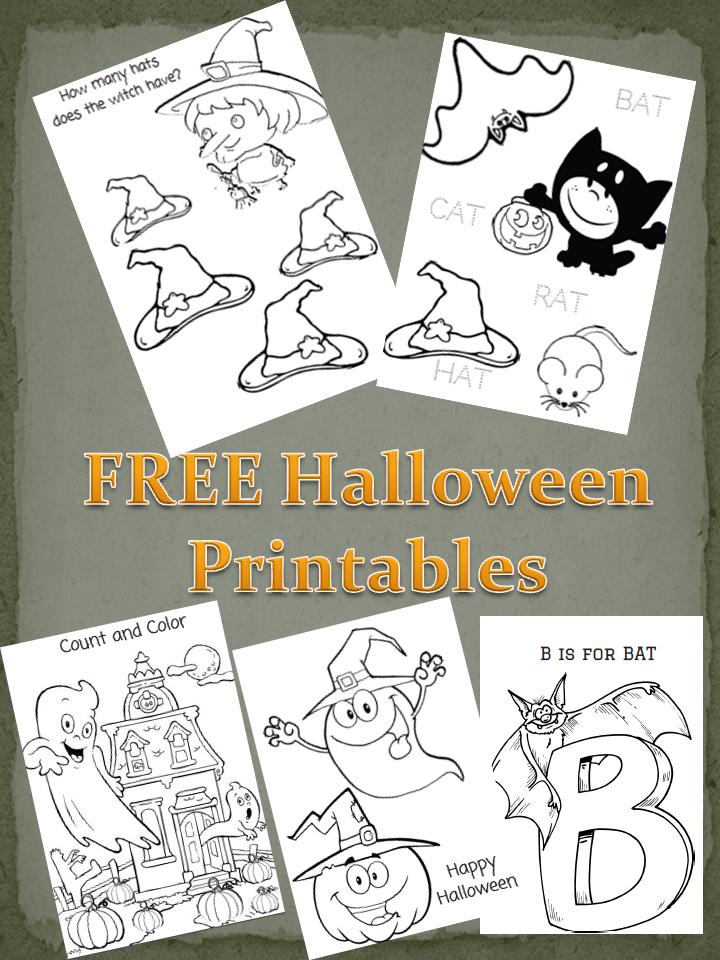 free educational halloween printables for kids - Free Preschool Halloween Printables