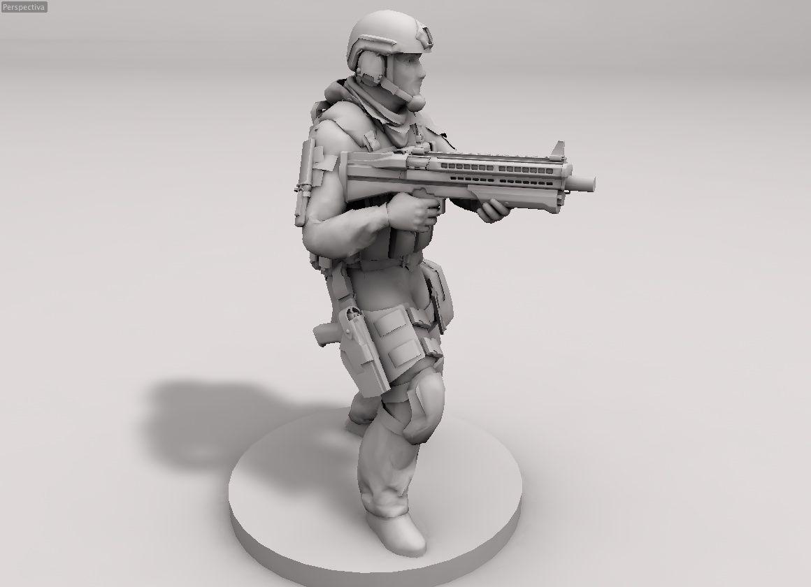 shotgun UTS 15, Delta Force 28mm wargames N A C | Ejército a Escala