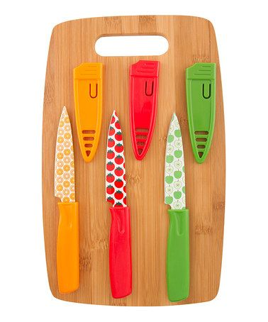Another great find on #zulily! Cutting Board & Paring Knife Set #zulilyfinds