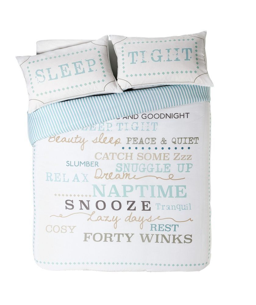 Snooze Typography Bedding Set Double At Argos Co Uk Your Online