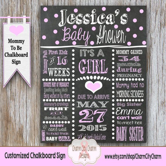 Milestone dreamcatcher shower stats pregnancy board 16x20 guestbook poster welcome pink teal chalkboard boho girl gender neutral 114CMPEX 31