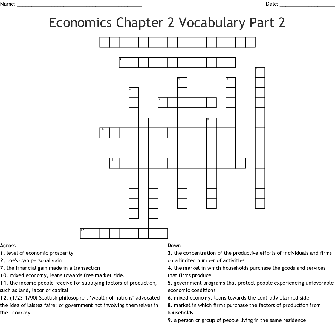 Chapter 2 Economic Systems And The American Economy