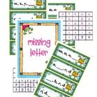 Frog Theme Missing Letter A-Z    26 cards, 2 sets of letters (lowercase)    Can be utilized several ways....see FREE packet for more details.    :)...