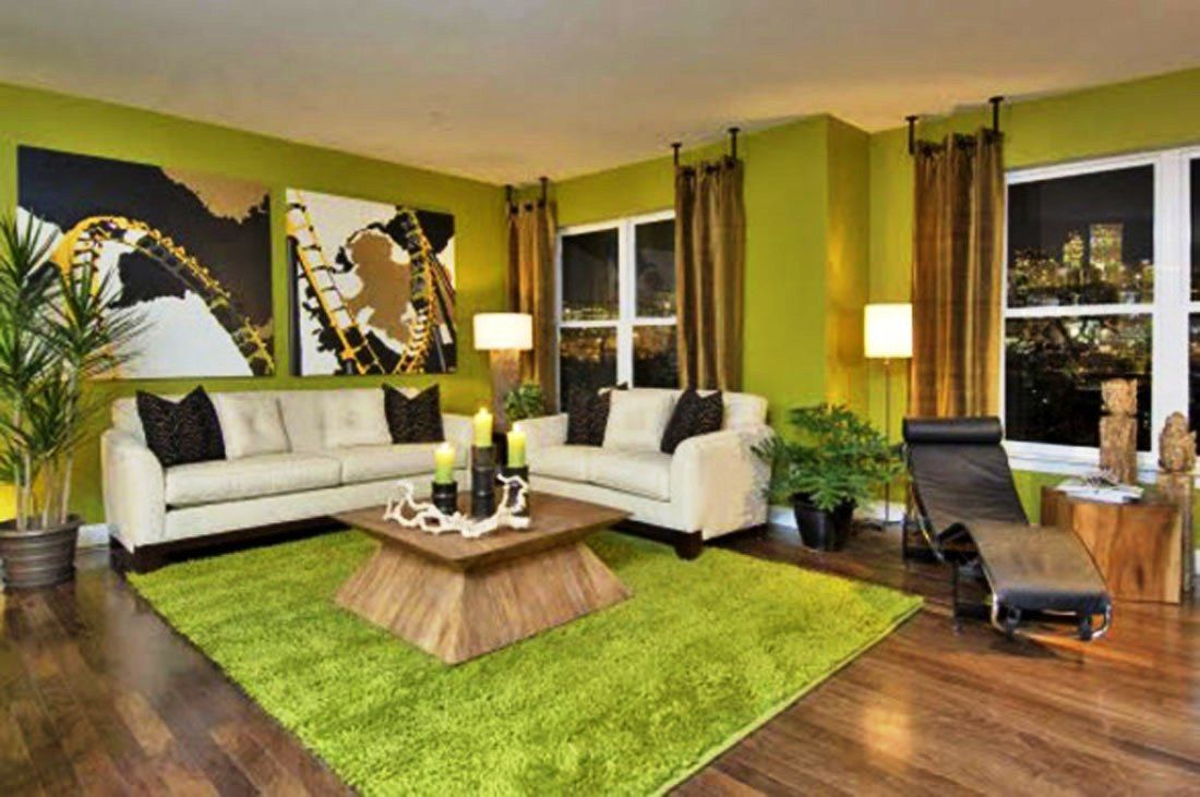 Image Detail For  Living Room Design Decor Idea Green Room Centre Table