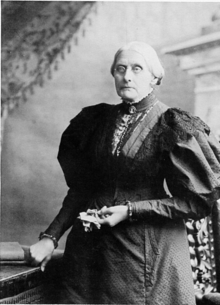 Susan B Anthony - one of the first women activists to advocate for women's rights, including the right to vote