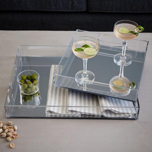 Acrylic Decorative Tray Acrylic Trays  Mirrored  West Elm $3949  Trays  Pinterest