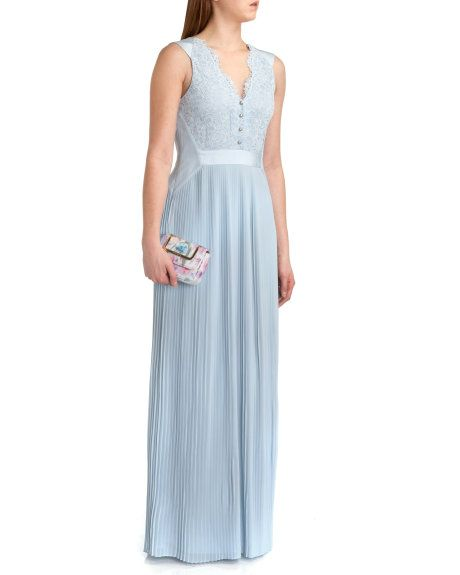 cc3a56441 Reversible pleated maxi dress - Powder Blue