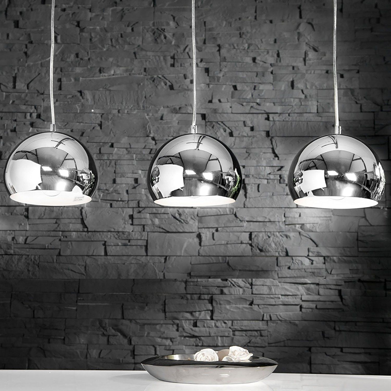 39 l gant suspension cooke suspension avec 3 boules chrome. Black Bedroom Furniture Sets. Home Design Ideas