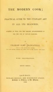The Modern Cook Francatelli Charles Elme 1805 1876 Free