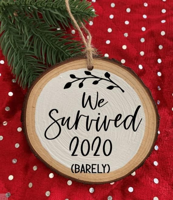 2020 Jesus Is The Reason For The Season Christmas Tree Slice Wood Ornament NEW
